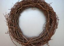 A grapevine wreath