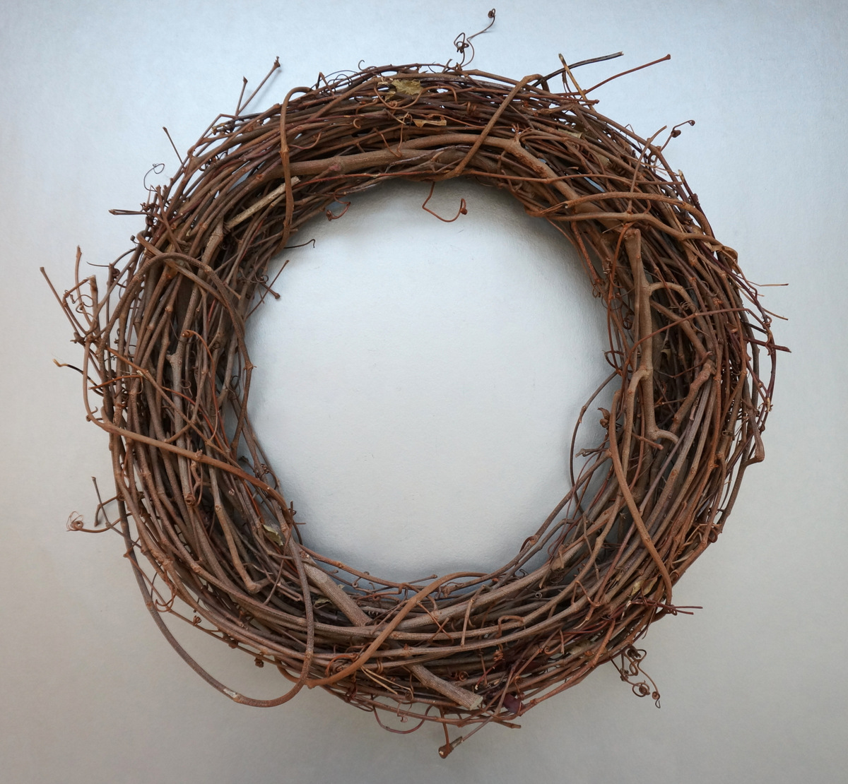 A grapevine wreath