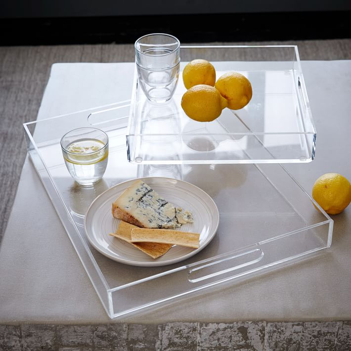 Acrylic trays from West Elm