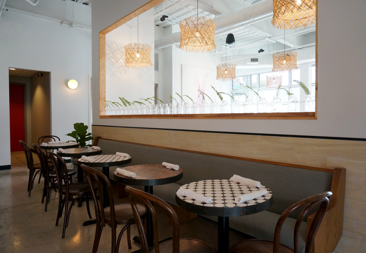 Bar table seating at Citizen Eatery