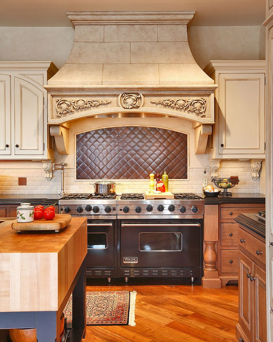 ... Bespoke Quilted Copper Kitchen Backsplash Is A Showstopper! [Design:  Amazing Spaces]