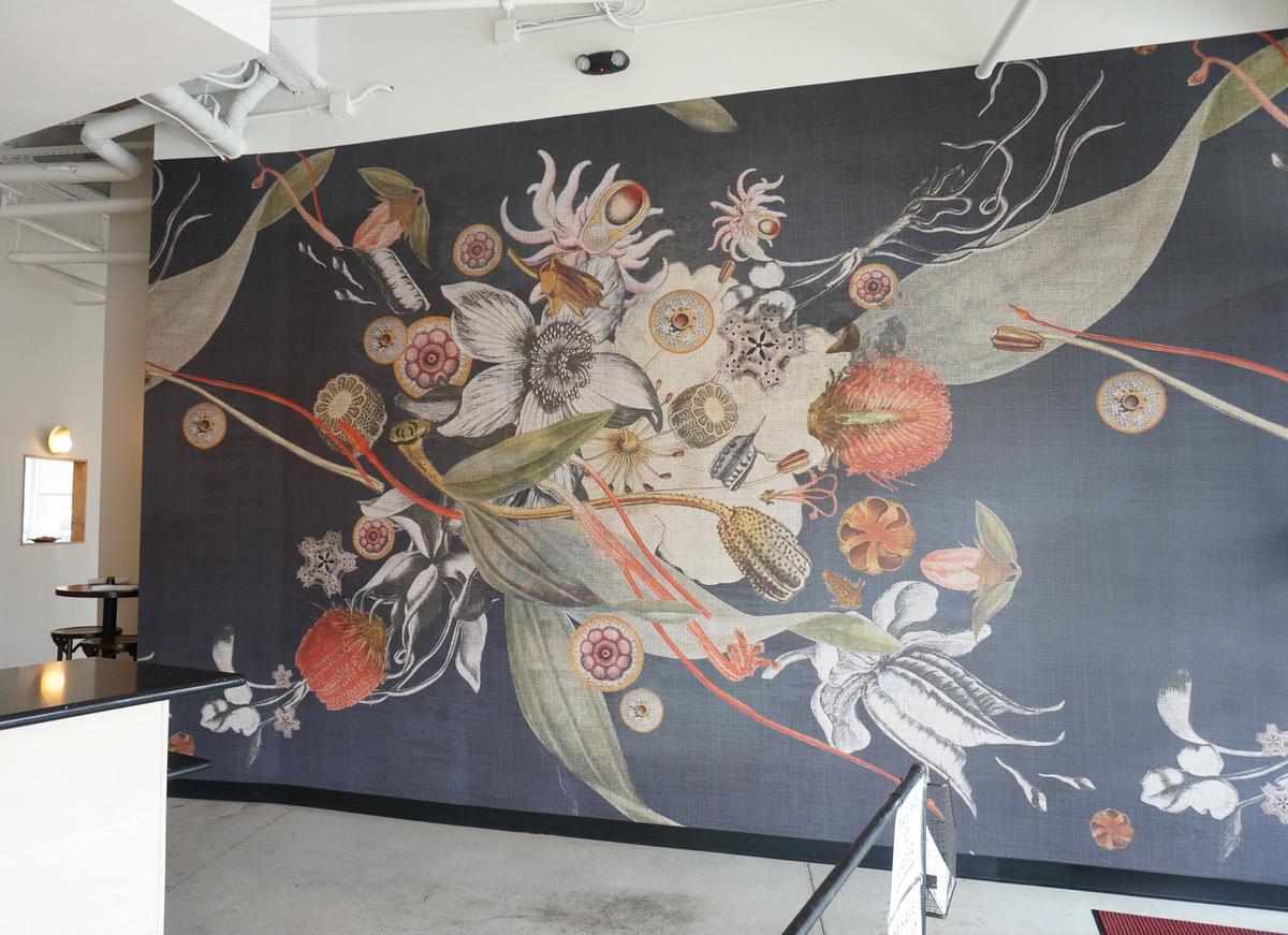 Botanical wallpaper by Robin Sprong