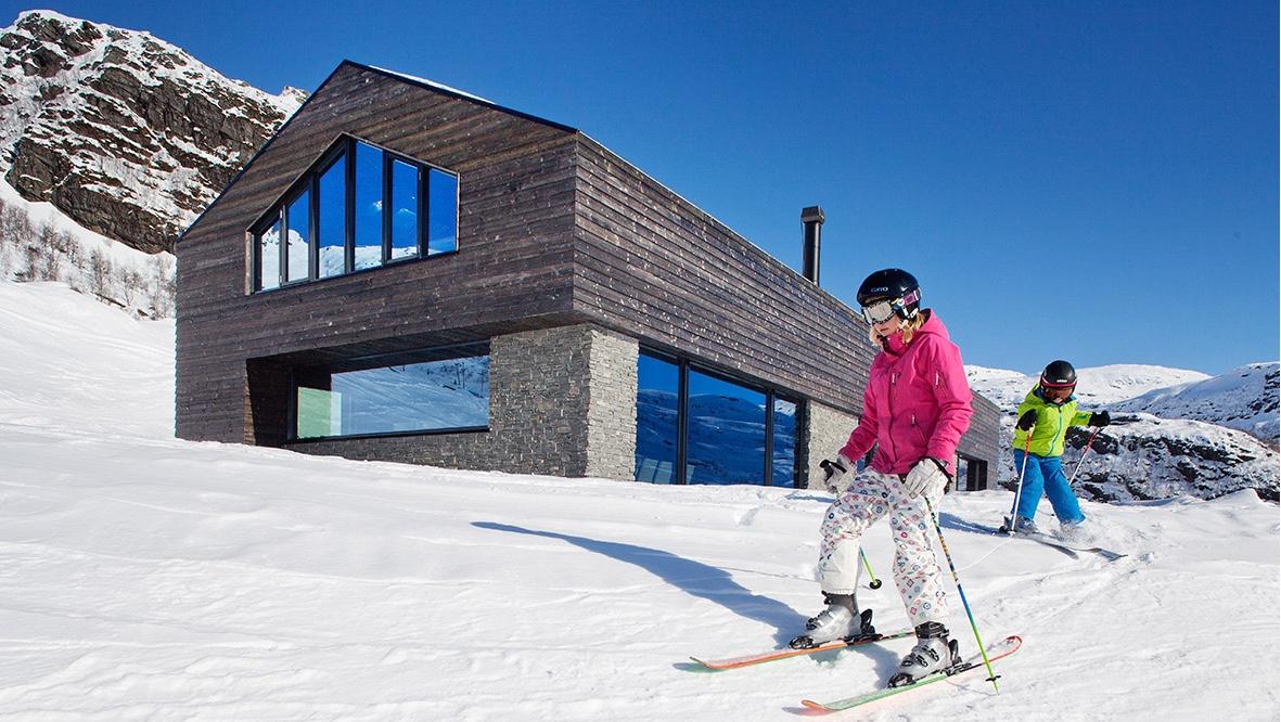 Cabin G skiing
