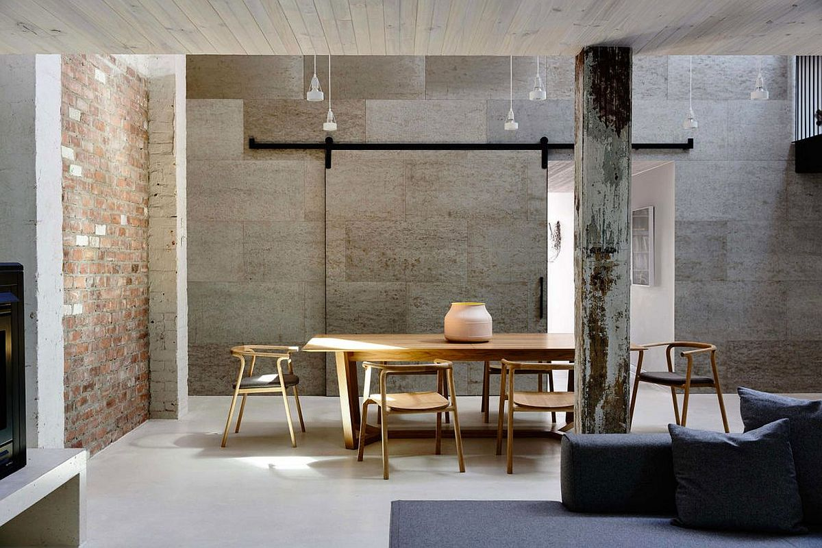 Carefully restored warehouse residence with industrial style and modern ergonomics