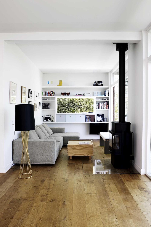 A cosy reading nook in ahouse in Copenhagen by Søren Rose Studio. Image via Søren Rose Studio.
