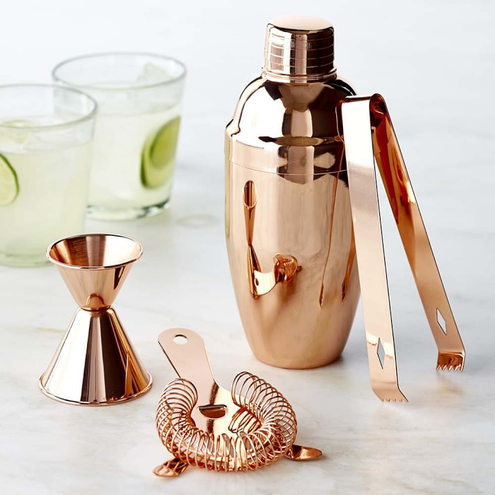 Copper bar items from Williams-Sonoma