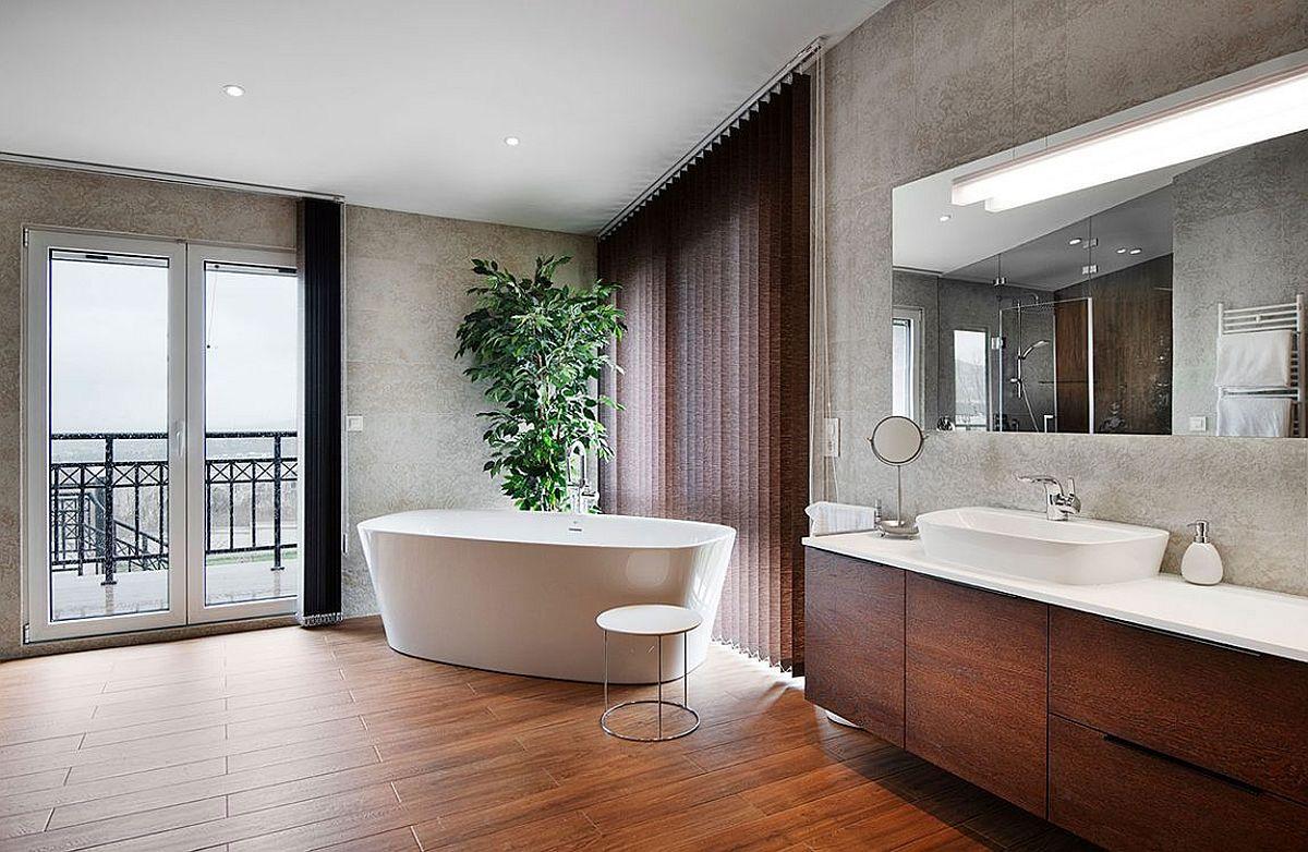 Corner bathrub idea for the luxurious master suite