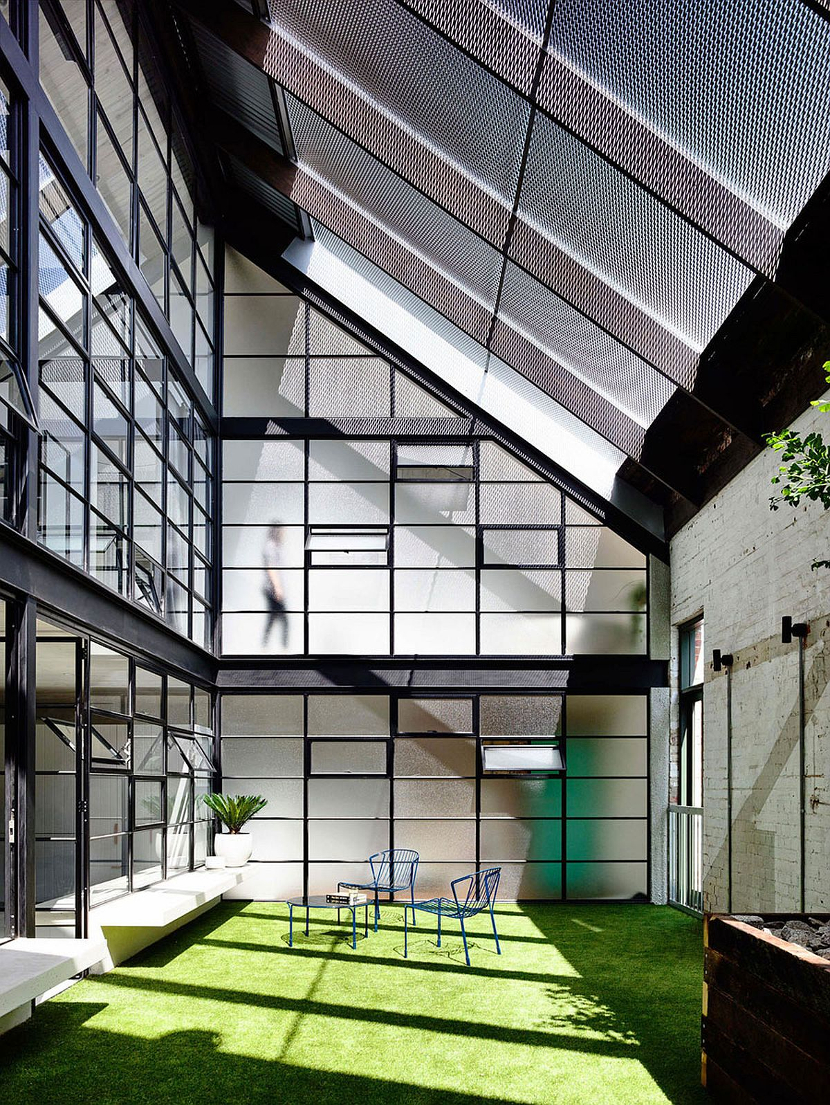 Covered courtyard of the FitzroyLoft in Melbourne