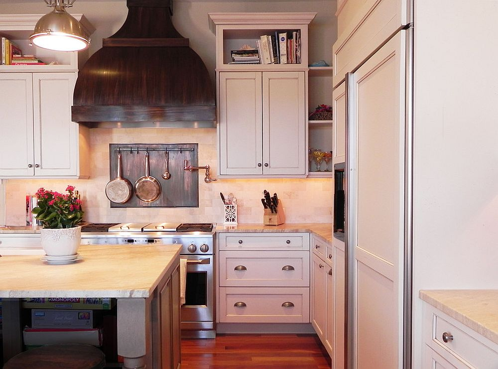custom copper range and backsplash for modern kitchen from tina