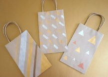 DIY gift bags with metallic designs 217x155 Painted DIY Gift Bags with Metallic Flair