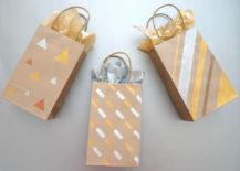 DIY metallic gift bags