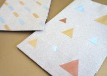 DIY triangle gift bag