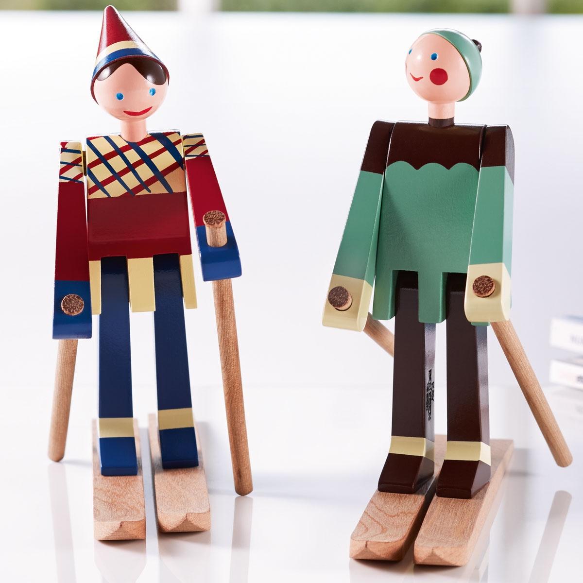Datti and Boje, the skiers. Image© Kay Bojesen.