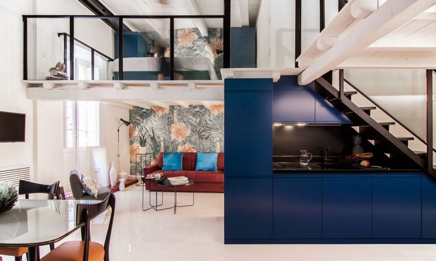 Space-Savvy Italian Home Delights with a Nifty Mezzanine-Level Bedroom
