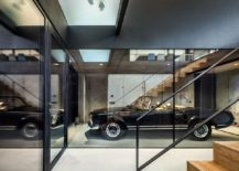 Displayed vintage car becomes a part of the interior