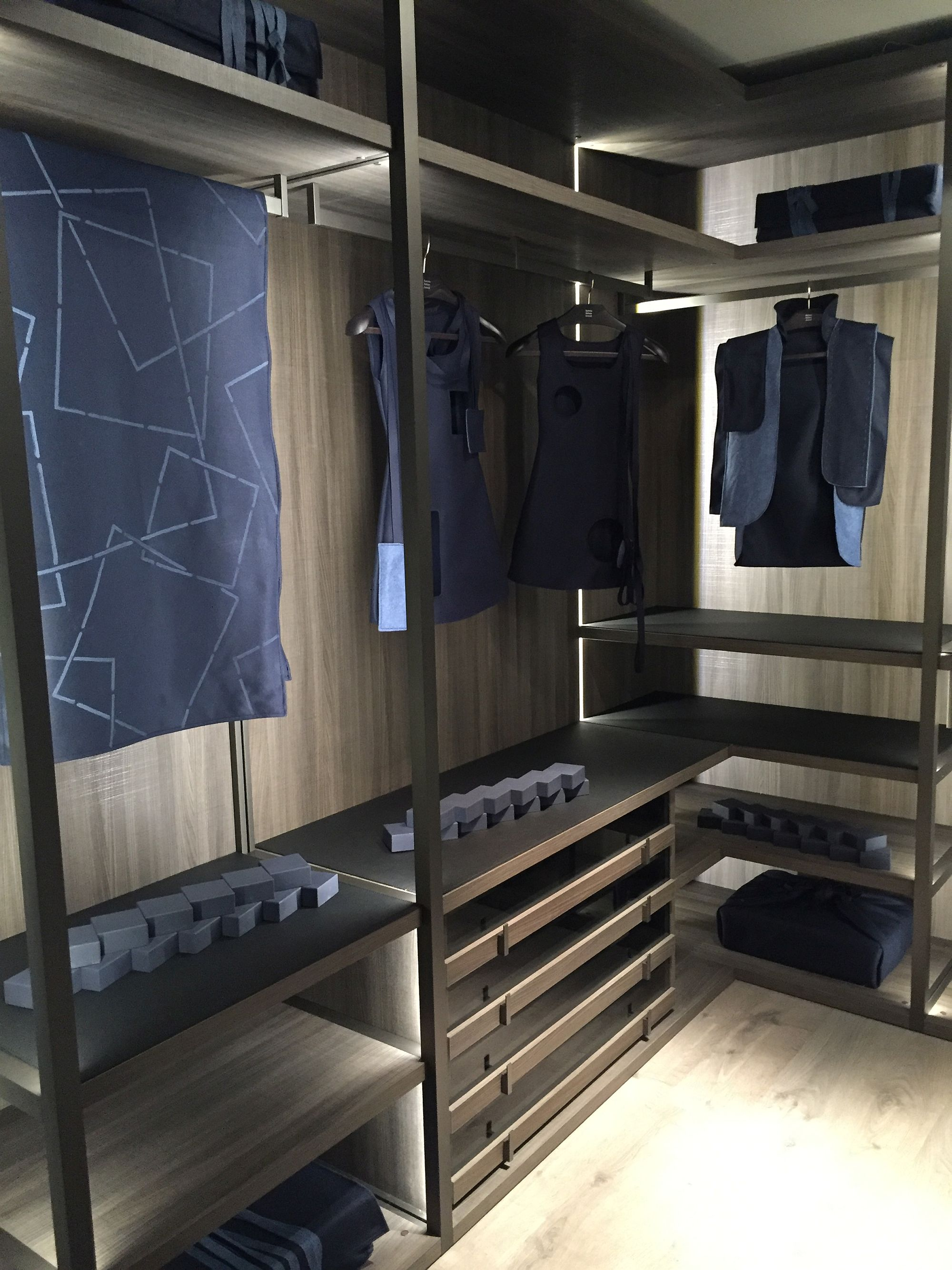 ... Ergonomic walk-in closet for the contemporary bedroom & 16 Innovative Bedroom Storage and Walk-in Closet Ideas