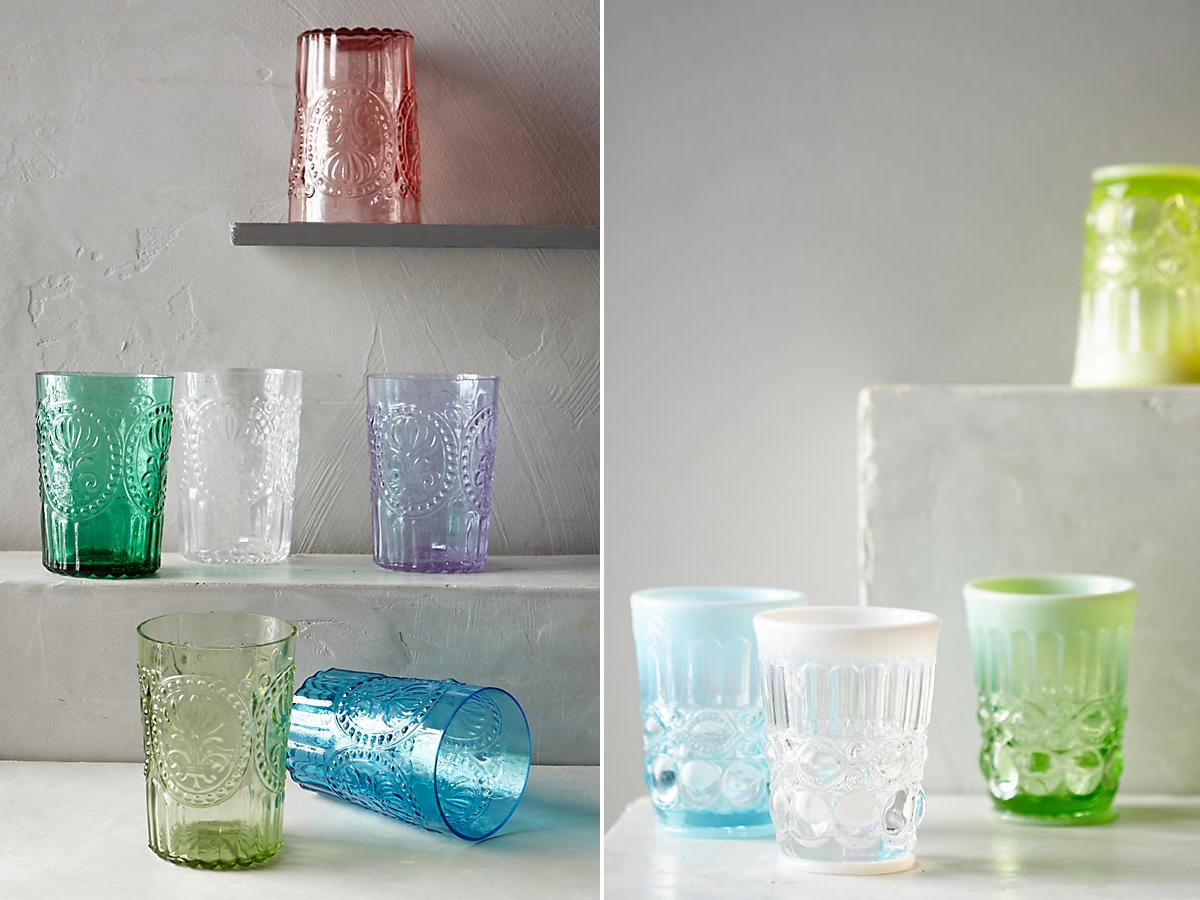 Glass tumblers from Anthropologie