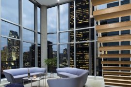 Dazzling View of Cityscape: Minimal Penthouse Brings Downtown Montreal Indoors