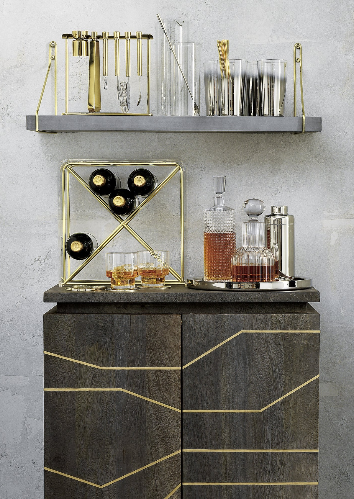 Gold-toned barware from CB2