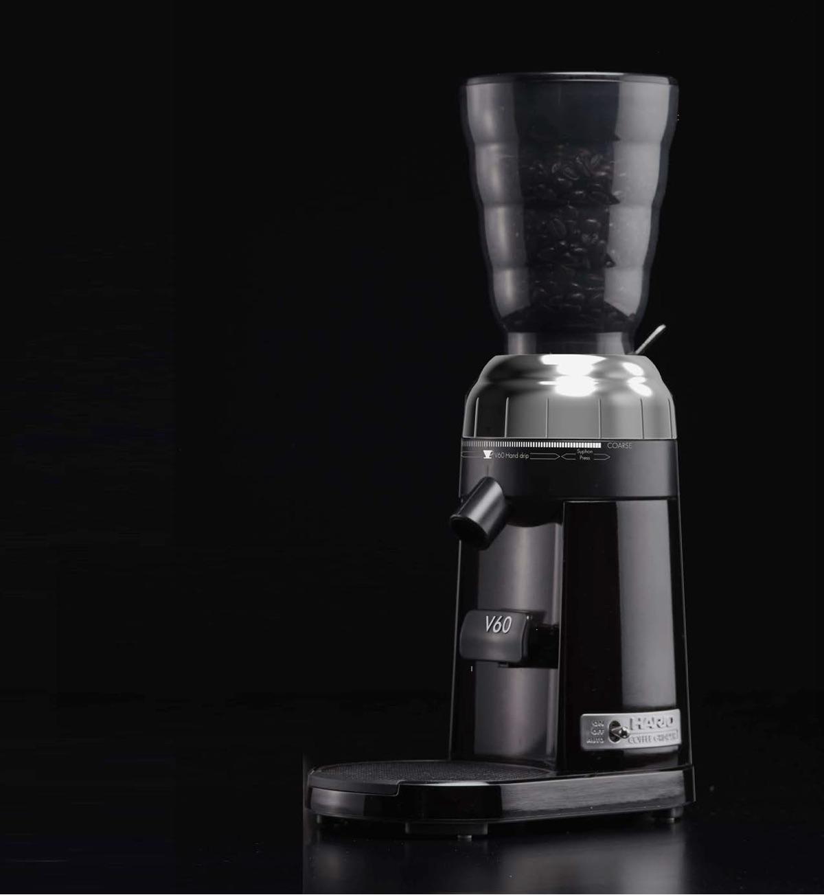 Hario electric V60 coffee grinder.