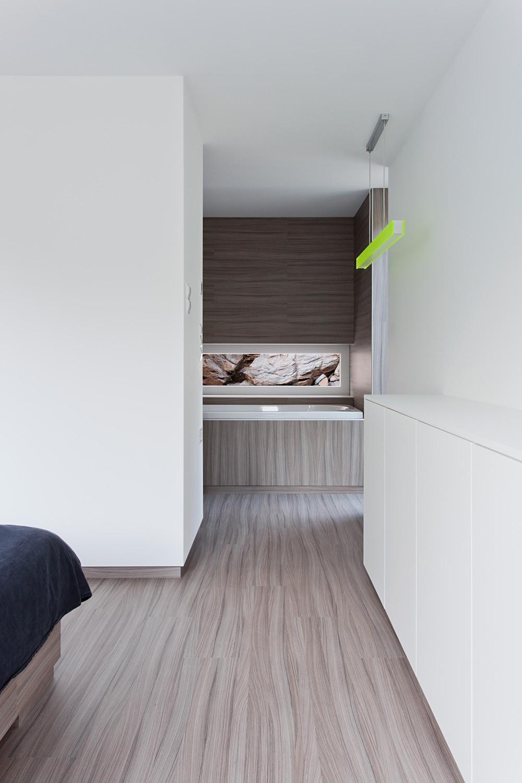 Hideg House enjoys a clean interior space.