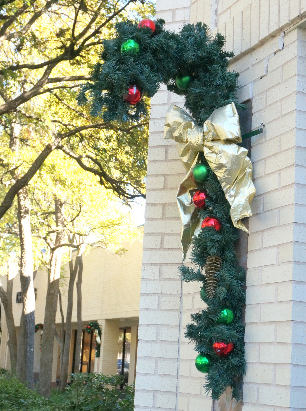 Holiday decorations at The Arboretum in Austin, Texas