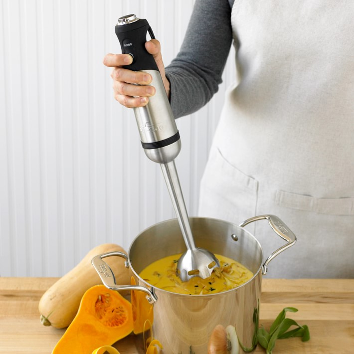 Immersion blender for winter soup