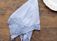 Indigo cotton napkin from Shabby Chic Couture