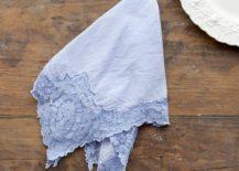 Indigo cotton napkin from Shabby Chic Couture