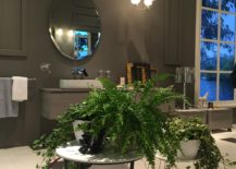 Indoor plant decorating idea that works as well in the foyer as it does in the master bathroom