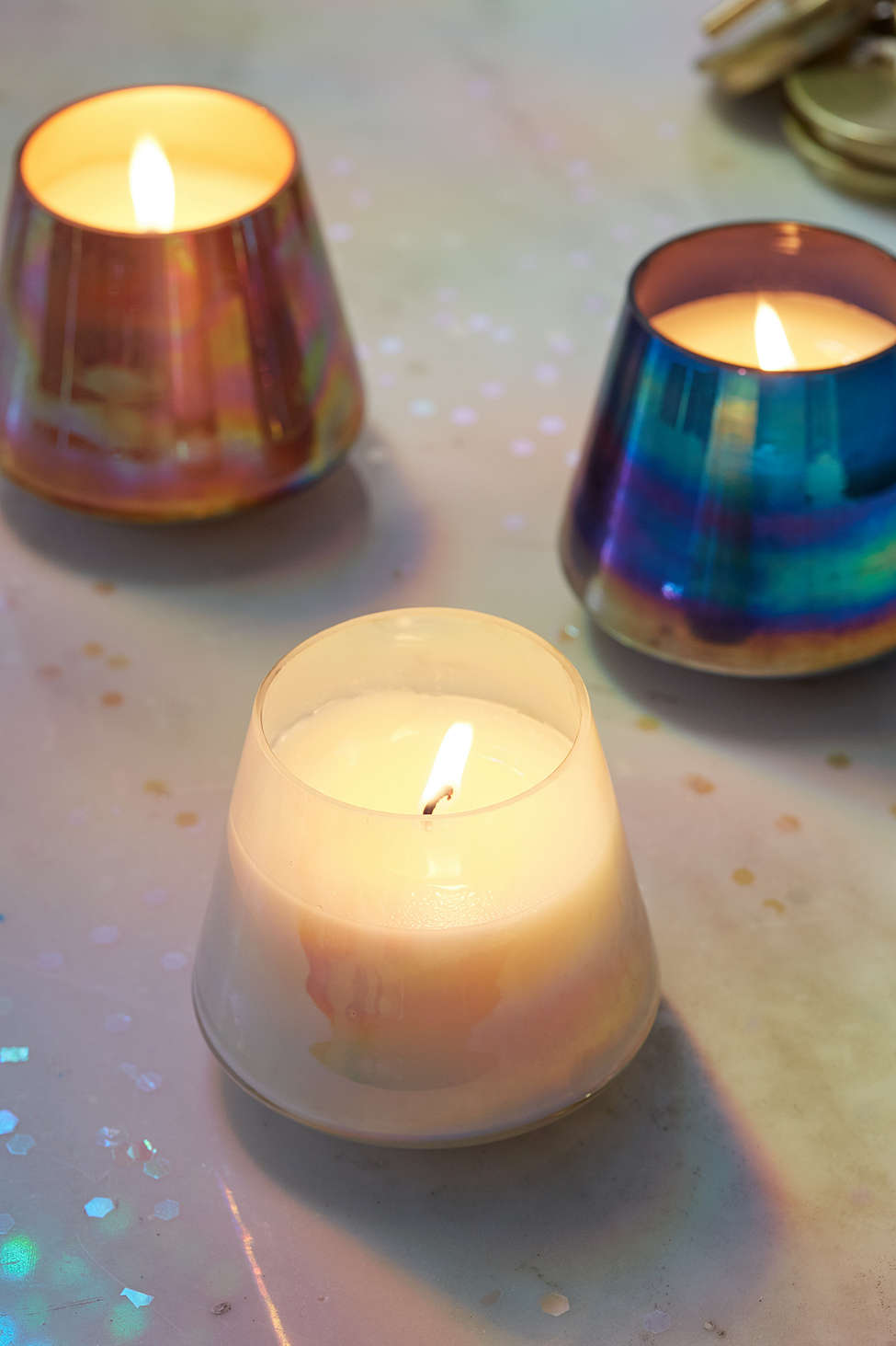 Iridescent candle holders from Urban Outfitters
