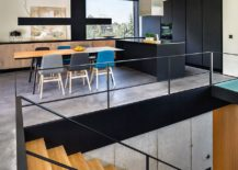 Kitchen and dining area of the stylish home in Sofia