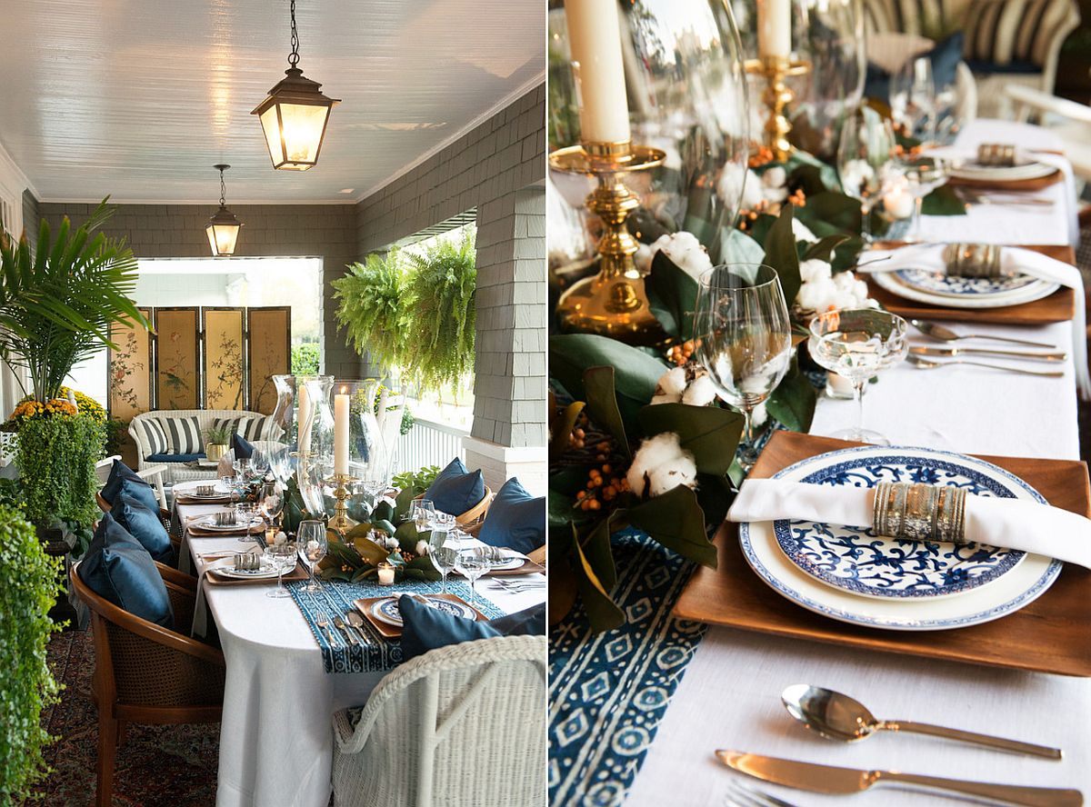 Let your porch play host to a great Thanksgiving dinner party [Design: Troy Spurlin Interiors]