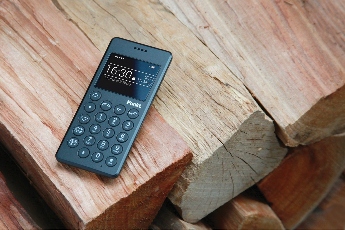 The MP01 mobile phone for Punkt. Image via Punkt.