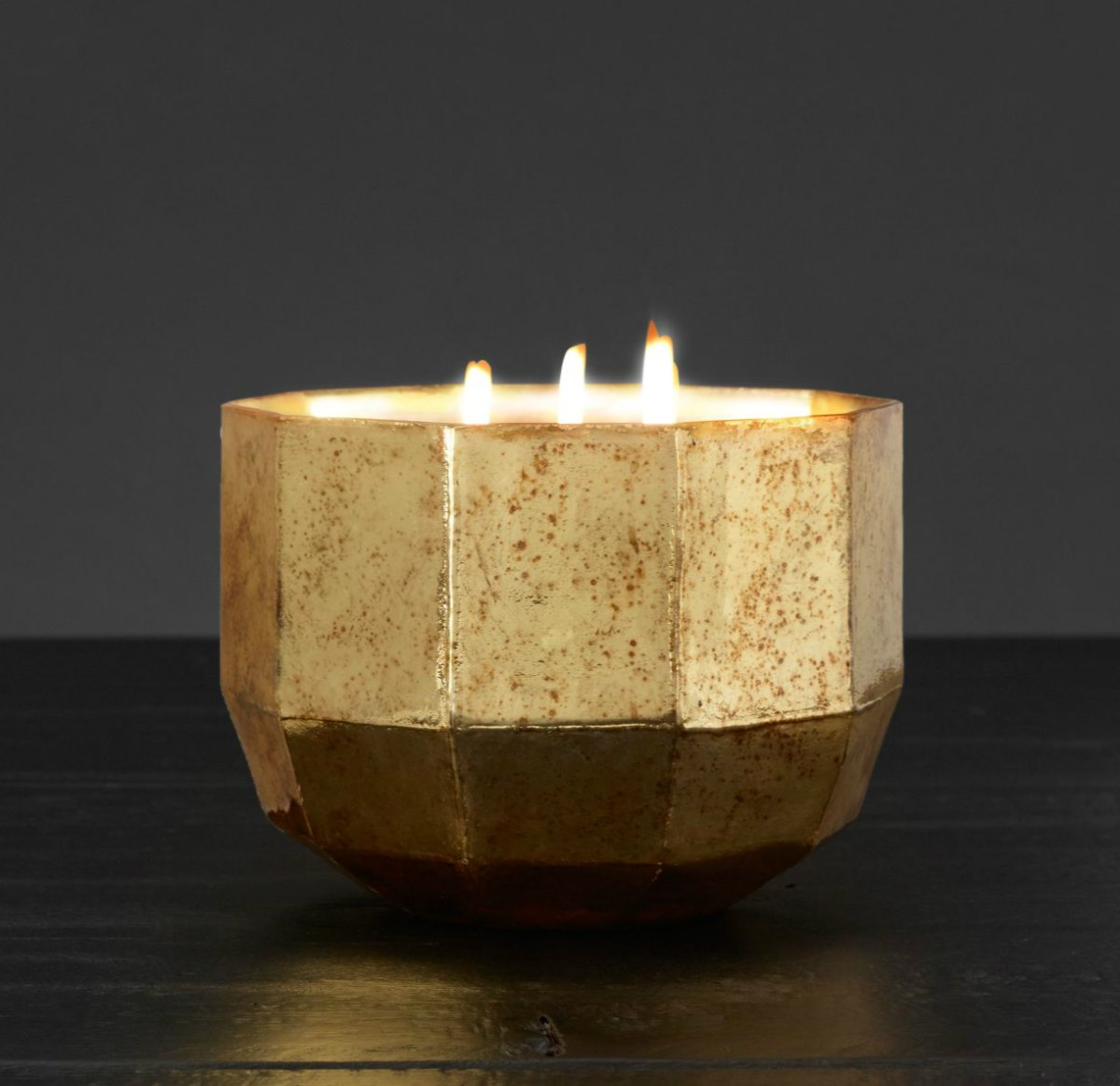 Mercury glass candle from Restoration Hardware