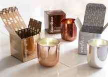 Metallic scented candles from Jonathan Adler