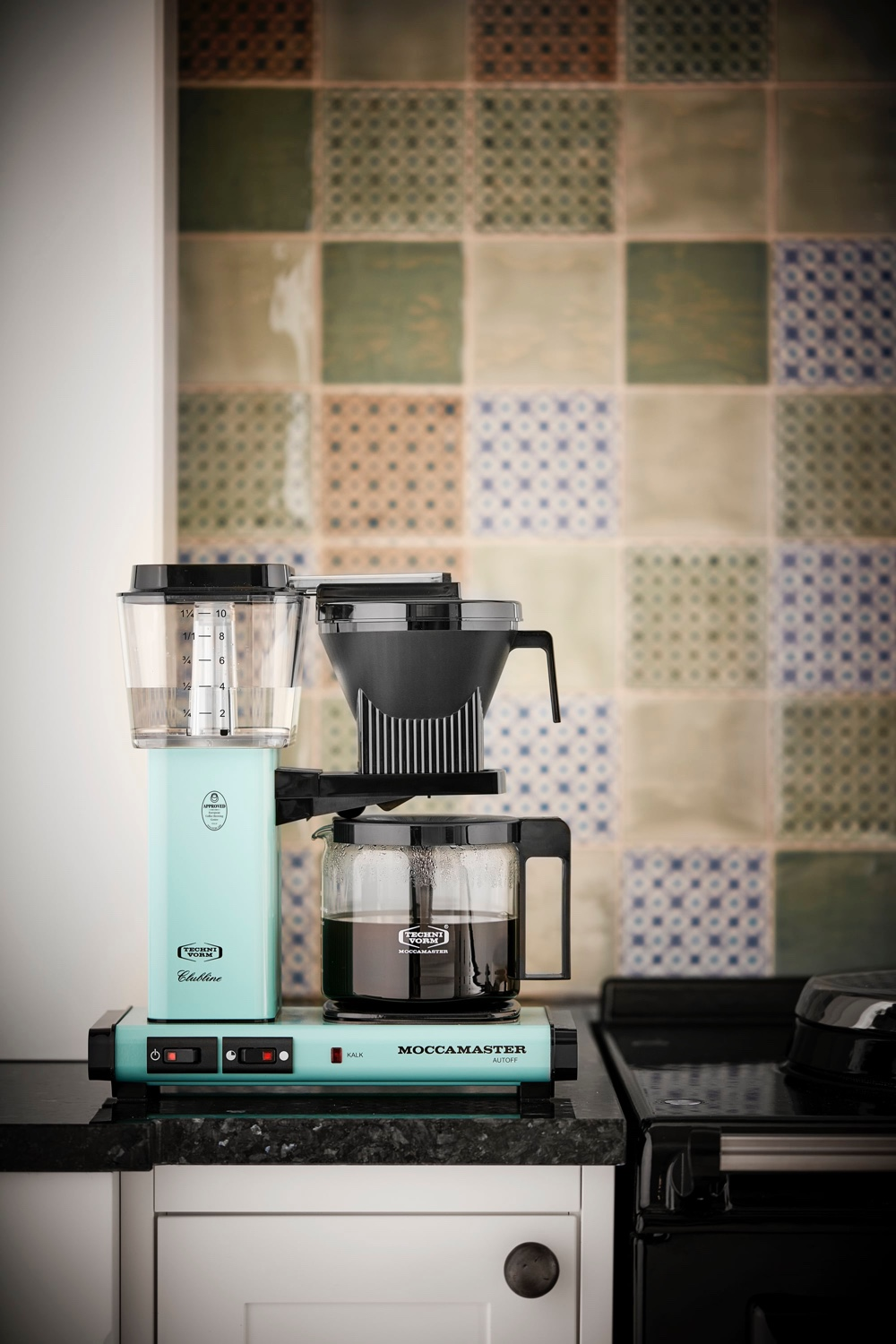 The Moccamaster KBG 741 AO in turquoise. Image © SØBY´S.