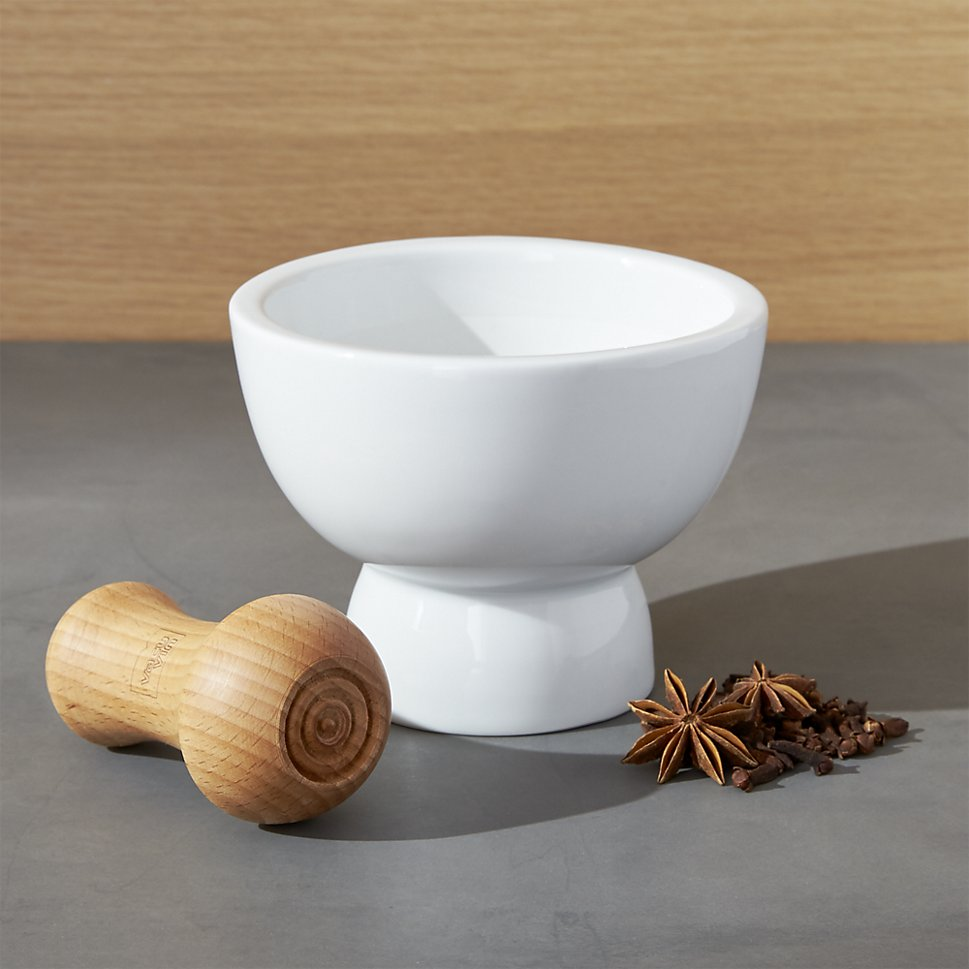 Mortar and pestle from Crate & Barrel