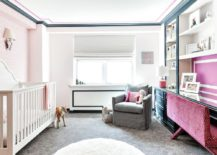 Nursery and home office rolled into one inside this glam New York home!