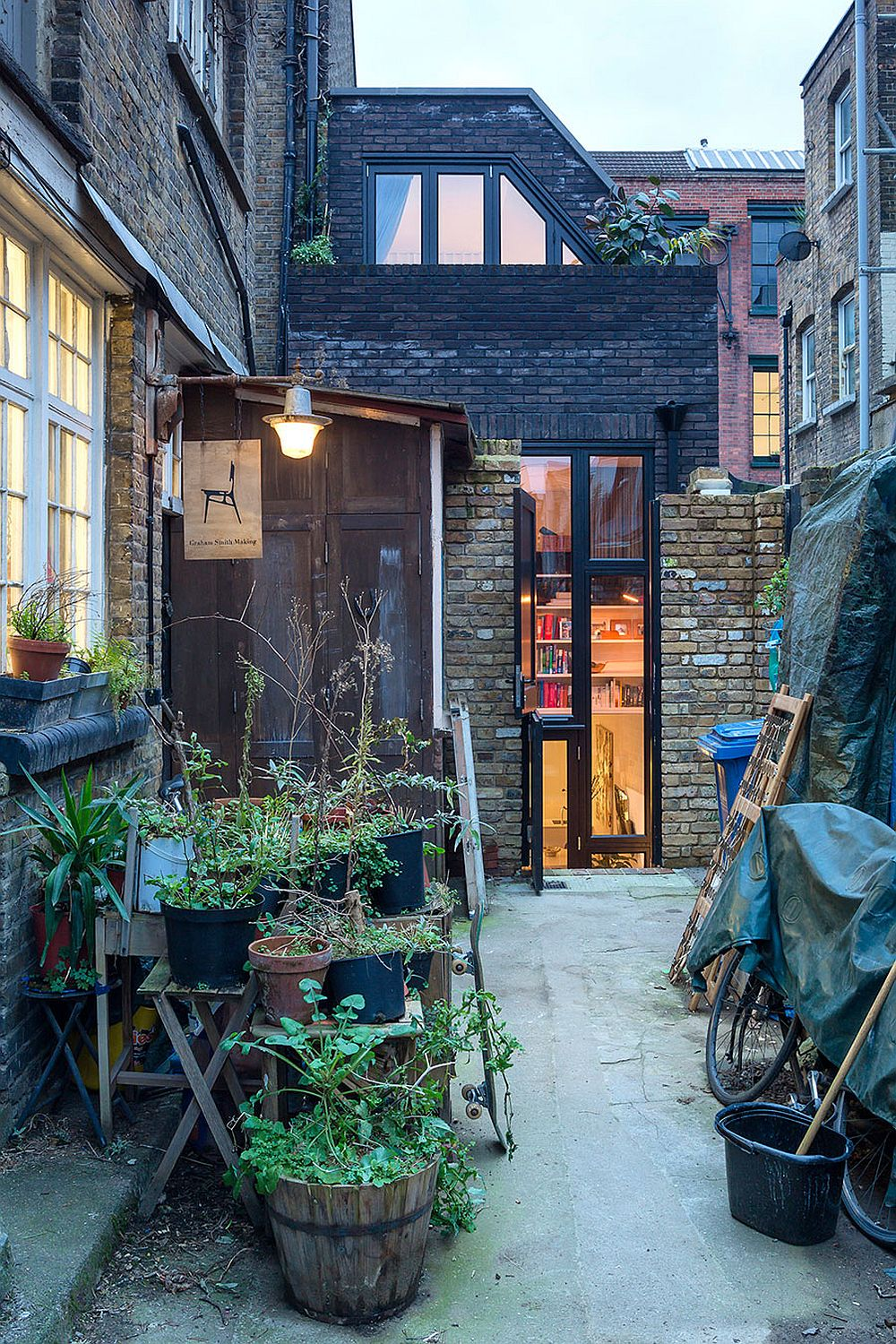 Old upholsterer's workshop in London transformed into a contemporary home - Before