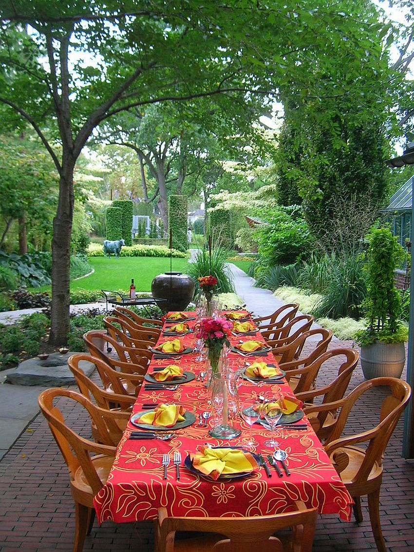 Outdoor entertaining idea on Thanksgiving