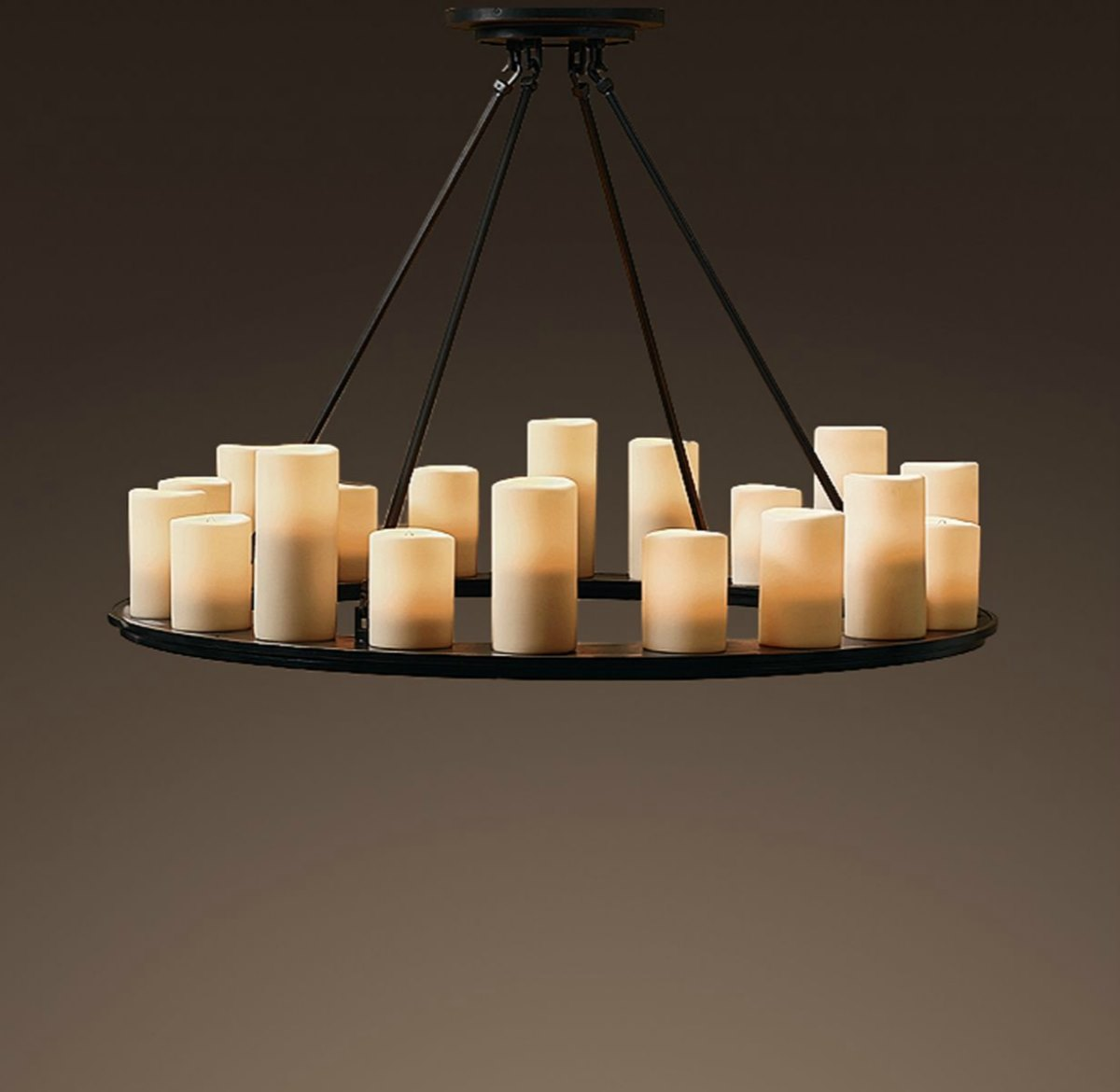 Pillar candle chandelier from Restoration Hardware
