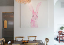 Pink bunny painting by Kendall Rabon