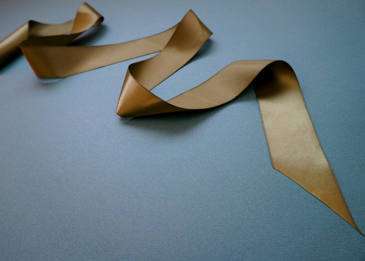 Satin ribbon adds a decadent touch