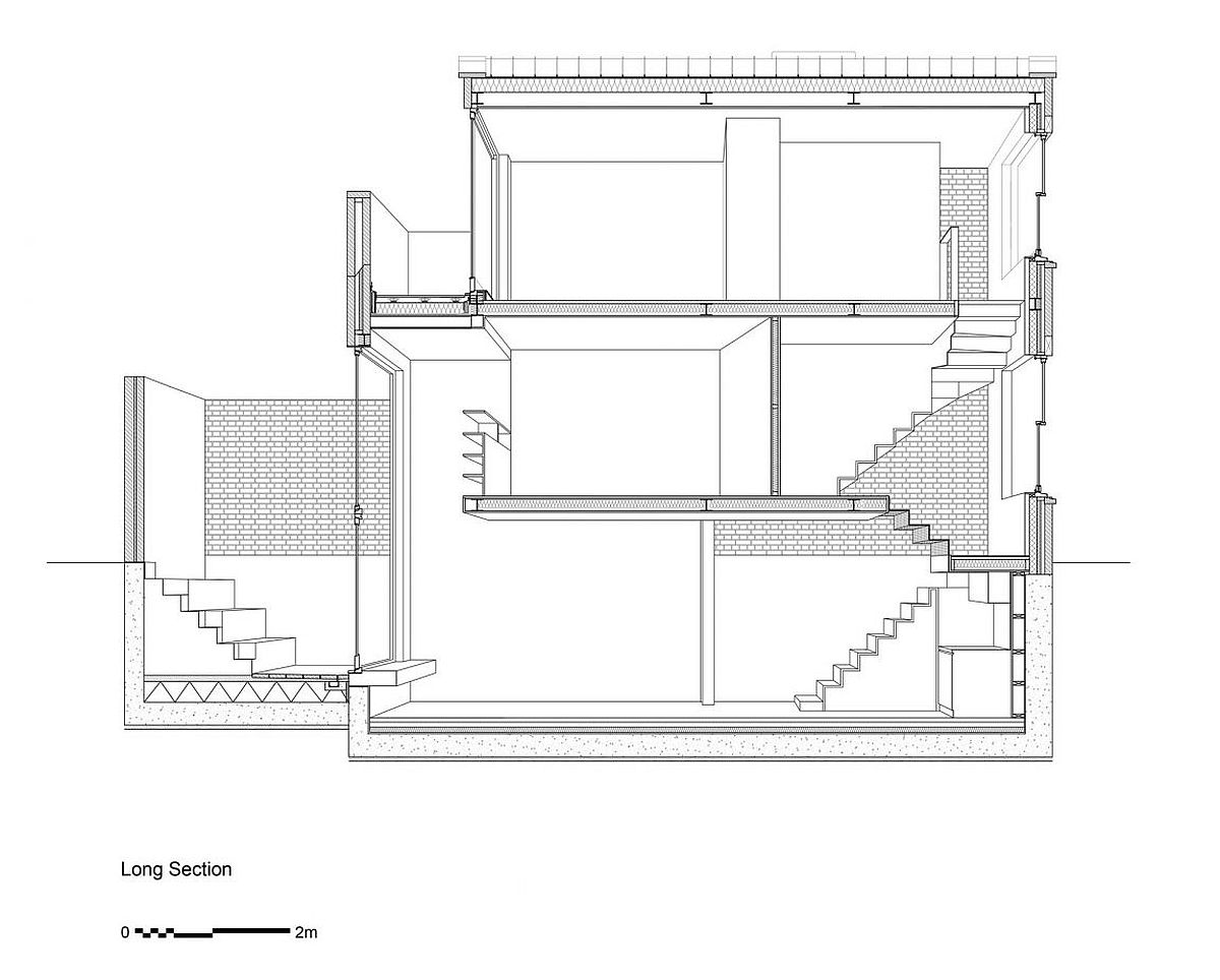 Sectional view of the renovated London home