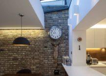 Skylight illuminates the kitchen and the dining area