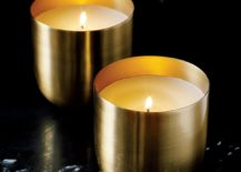 Sleek candle from CB2
