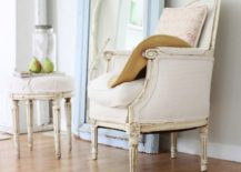 Soft hues in a shabby chic interior [photo by Dreamy Whites]