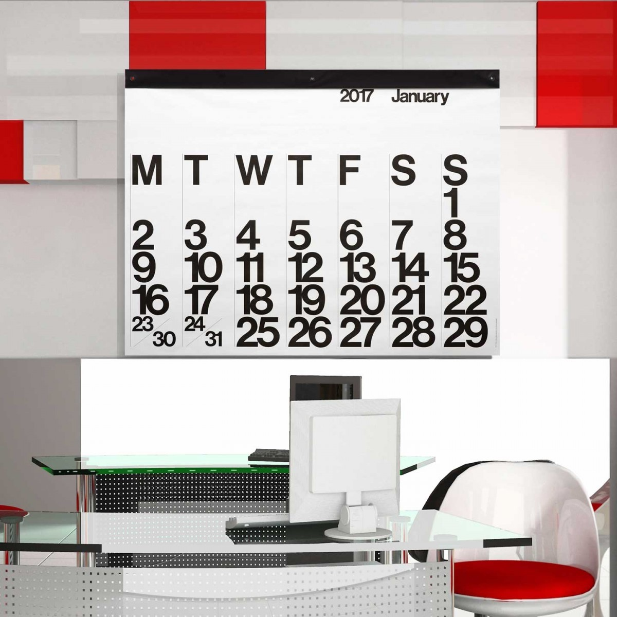 Stendig Calendar. Image© Aram.