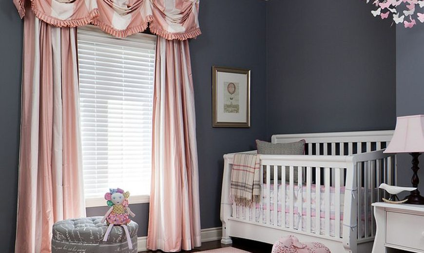 Trendy And Chic Gray And Pink Nurseries That Delight